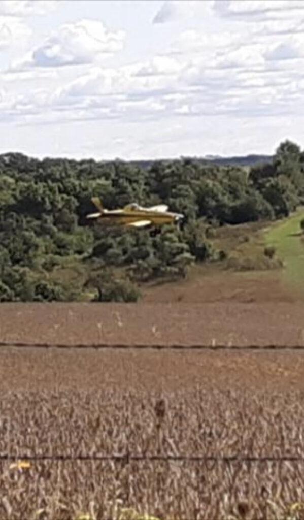 LASA member Darlington Farms aerial seeding cover crops