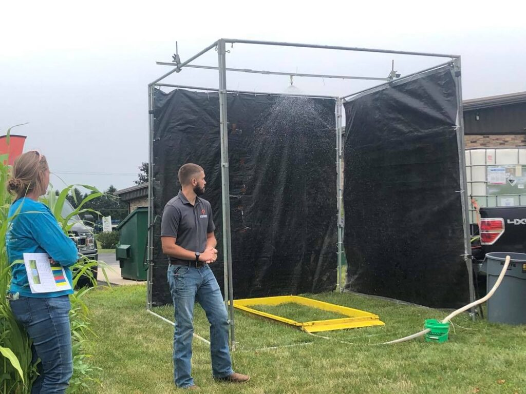 Rainfaill simulator demonstration